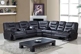 Black Leather Sofa Recliner Modern Concept Black Leather Sofa Recliner With Bonded Sectional