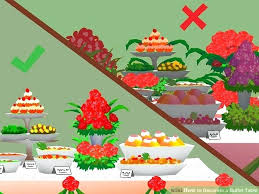 holiday buffet table decoration ideas decorate wedding buffet