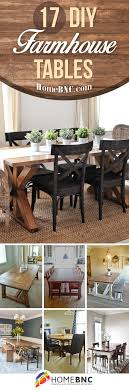 Diy Farmhouse Dining Room Table 17 Best Rustic Diy Farmhouse Table Ideas And Designs For 2018
