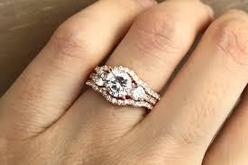 promise ring engagement ring wedding ring set gold bridal set ring three engagement ring set