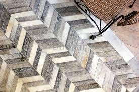 chevron area rug 8x10 amazon com hand stitched cowhide leather rug u0027grey chevron u0027 8