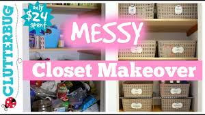 messy closet organize a messy hall closet messy monday makeover youtube