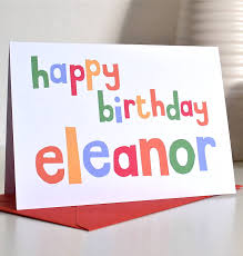 personalised birthday cards personalised happy birthday card becka