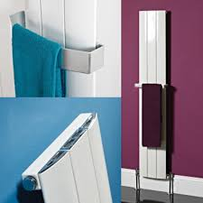 phoenix vega aluminium white designer radiator with towel rail