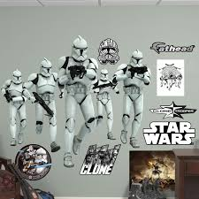 star wars clone trooper group peel and stick wall decal by fathead star wars clone trooper group peel and stick wall decal by fathead