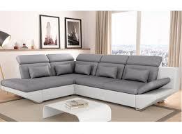 matière canapé canapé convertible avec tiroir bi matière gris clair blanc bali