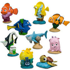 nemo cake toppers authentic disney finding nemo figure figurine play set 9 pce toys