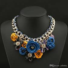 blue crystal statement necklace images Online cheap luxury brand ab shine crystal flower necklace gold jpg