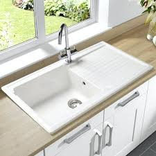 Overmount Kitchen Sinks Overmount Kitchen Sink Save To Idea Board White Porcelain Drop In