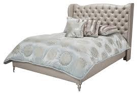 King Upholstered Platform Bed Michael Amini Loft California King Size Upholstered