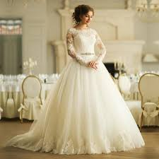 church vintage lace long sleeve wedding dresses plus size ball