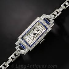 bracelet diamond watches images Platinum diamond and sapphire art deco bracelet watch jpg