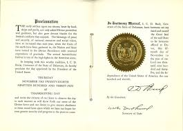 thanksgiving proclamation 2014 archives blog official blog of the delaware public archives