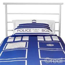 Dr Who Duvet Who Tardis Duvet U0026 Pillow Cover Set Single
