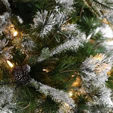 Popular Artificial Silver Tip Christmas Tree by Pre Lit Green Snow Effect Liberty Pine Artificial Christmas Tree