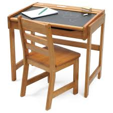 Small Wood Desk Lipper Chalkboard Storage Desk And Chair Set Pecan Hayneedle