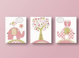 Elephant Wall Decal For Nursery by Baby Nursery Decor Three Baby Nursery Wall Art Panel Simple Trees
