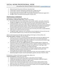 Example Social Work Resume by Social Work Resume Sample Federal Social Worker Resume Writer