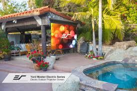 Backyard Series Yard Master Electric Series Outdoor Projector Screens Elite