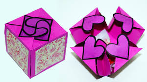 Paper Crafts - diy paper crafts idea gift box sealed with hearts a smart way