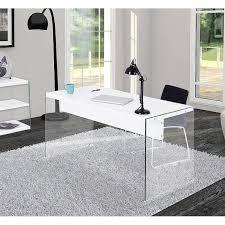 bureau en verre blanc bureau verre trempe