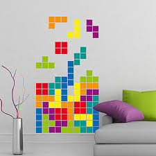 asteroids wall sticker set computer game stickers tetris wall sticker