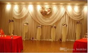 Curtains Wedding Decoration Luxury White Wedding Backdrop New Design Wedding Backdrop Stage
