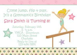 gymnastics party invitations template best template collection