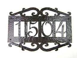 spanish mediterranean aph14 spanish mediterranean hammered wrought iron address plaque
