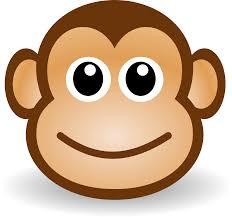 free cute cartoon monkey clipart illustration