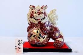 kutani shishi japanese leo shishi lion dog kutani yaki ware porcelain