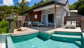 chambre avec piscine priv hôtel carana seychelles
