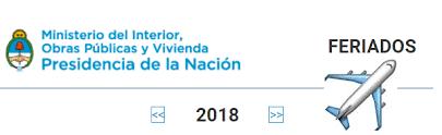Calendario 2018 Argentina Ministerio Interior Feriados Puente 2018 En Argentina Calendario Con Feriados 2017