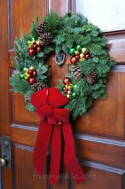 live christmas wreaths simple home decorating the front door entryway with a