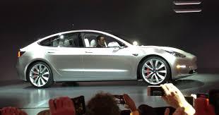 tesla unveils the model 3 its mass market electric car