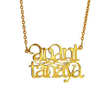 two name necklace customised two name necklace by eina ahluwalia