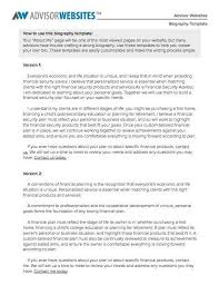 simple biography template biography brief sample format for a
