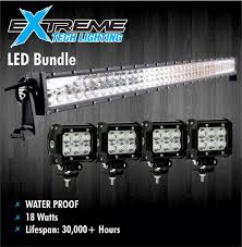 led light bar bundle led bundle package 42 light bar with set of four 4 pods