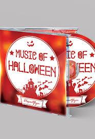 halloween music u2013 free cd cover psd template u2013 by elegantflyer