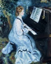 woman at the piano by pierre auguste renoir