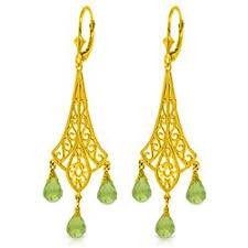 Peridot Chandelier Earrings Chandelier Gemstone Earrings