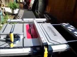 craftsman sliding table saw mastercraft 15 sliding table saw review youtube