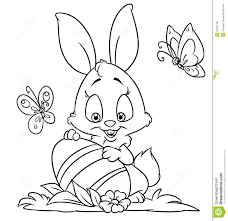 happy easter bunny coloring pages stock illustration image 54327487