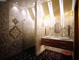 badezimmer in braun mosaik haus renovierung mit modernem innenarchitektur schönes