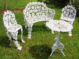 Cast Iron Patio Furniture Sets - restoring chairs wrought iron outdoor furniture all home decorations