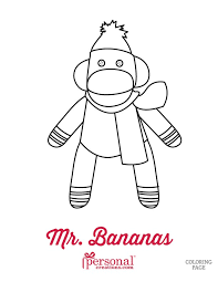 printable monkey coloring pages sock monkey coloring pages personal creations blog