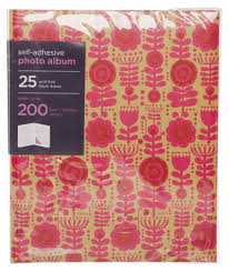 self adhesive photo albums whsmith large floral pink kraft photo album 2 whsmith