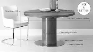 round walnut extending dining table pedestal base uk