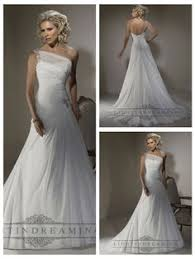 One Shoulder Wedding Dress Private Listing For Preasley Assymetric Shoulder Ivory Lace