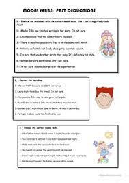 15 free esl deduction worksheets